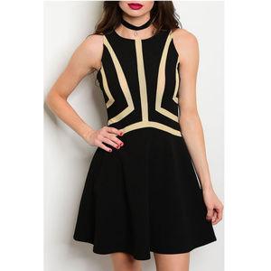 🆕 Black Cocktail Skater dress